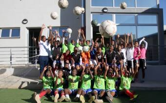 Members of the Girls Center in the Namibia FA